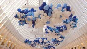 How Matt Damon—And A Bunch of Balloons—Are Raising Awareness for World Water Day