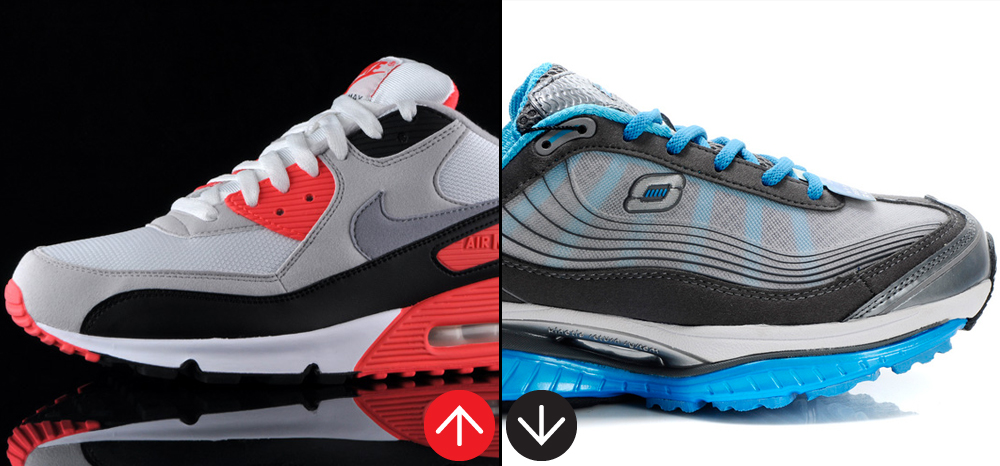 """outlet store 3f361 85dfc Nike s Air Max 90 made high tech fashionable. Skechers Shape-Ups use """"high  tech"""" to tout a weight-loss fantasy."""