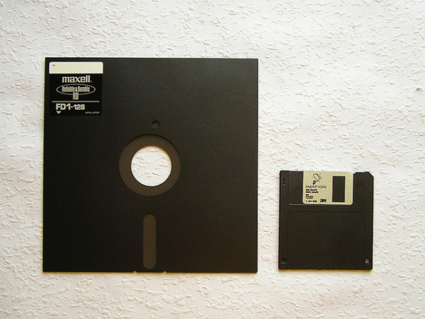 For a glimpse of the future try reading a 3 5 inch floppy - Uses for old floppy disks ...